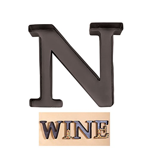 "1 X Personalized Letter ""N"" Metal Wall Wine Cork Holder - Monogram Wall Art"