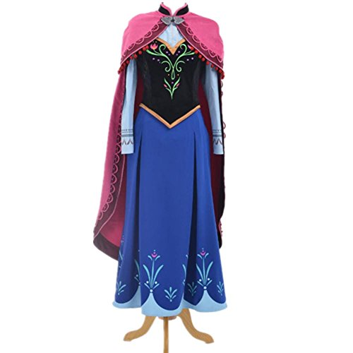Flowerbb 4pc Anna Dress+cape Halloween Costumes for Adult Cos01