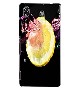 ColourCraft Creative Lemon Image Design Back Case Cover for SONY XPERIA M4 AQUA