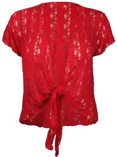purple hanger bol ro femme manche courte dentelle lac pliss grande taille neuf 40 42 rouge. Black Bedroom Furniture Sets. Home Design Ideas