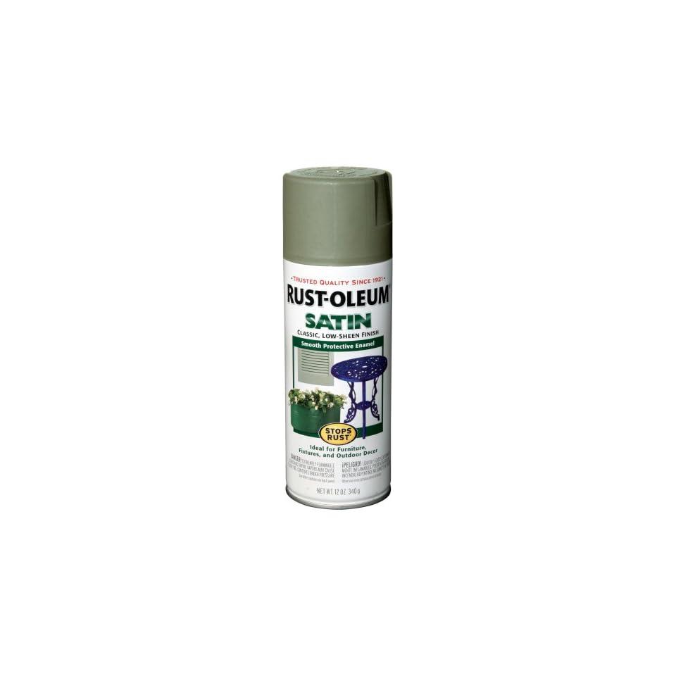 Rust Oleum 7720830 Satin Enamels Spray, Sage, 12 Ounce