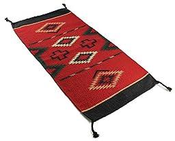 Onyx Arrow Southwest Décor Wool Area Rug, 20 x 40 Inches, Mangalarga