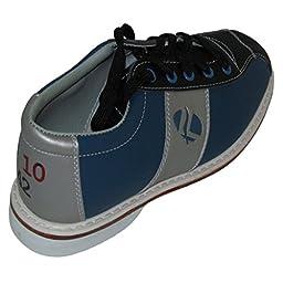 Linds Womens Monarch Rental Bowling Shoes- Laces (11 M US, Blue/Silver)