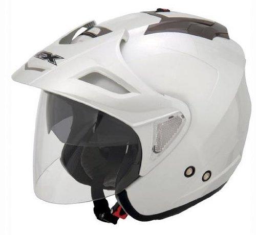 AFX FX-50 Solid Helmet , Gender: Mens/Unisex, Helmet Type: Open-face Helmets, Helmet Category: Street, Distinct Name: Pearl White, Primary Color: White, Size: 2XL 0104-1380
