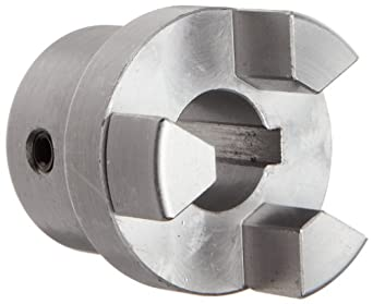 Boston Gear FC121/2 Shaft Coupling Half, FC12 Coupling Size, 0.500 inches Bore, 27/32 Thru Bore Length, 1.000 inches Hub Diameter, 3 Max HP at 1750 RPM, 125 Max Torque (LB-IN), Steel