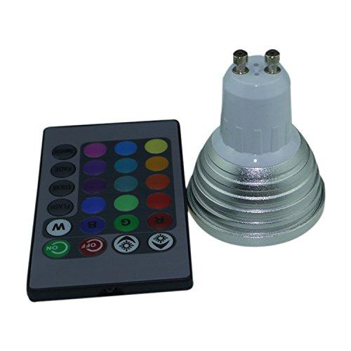 Generic Rgb Magic Spot Light Gu10 3W Led 16 Colors Changing Bulb+Ir Remote Control