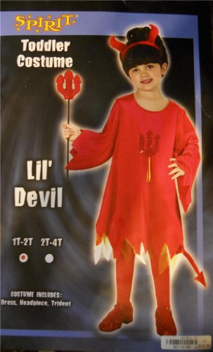 "Red Lil"" Devil Costume Toddler 2t-4t - New!"