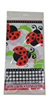 Lively Ladybugs Printed Plastic Tablecover