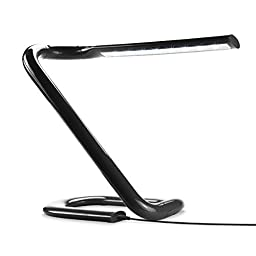 Foldable , Adjustable and Touch-Sensitive USB Desk Lamp with 1.6 Watt LED Dimmable Lights by ENHANCE (Black) - Perfect for Home , Office or Business Use While Traveling , Studying , Reading and More