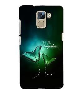 EPICCASE We Fly Together Mobile Back Case Cover For Huawei Honor 7 (Designer Case)