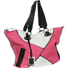 ''Trapeze Tote'' Handbags - Hot Pink or Yellow