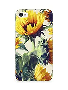 Amez designer printed 3d premium high quality back case cover for Apple iPhone 4 (Sunflowers forever)