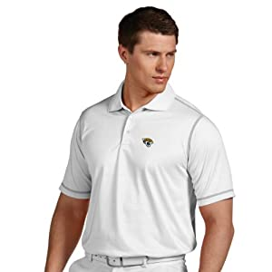 NFL Jacksonville Jaguars Mens Icon Desert Dry Polo by Antigua