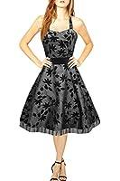 Black Butterfly 'Maisy' Satin Essence Rockabilly Dress