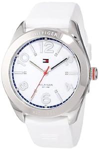 Tommy Hilfiger 1781255 - Reloj de pulsera mujer, caucho, color blanco