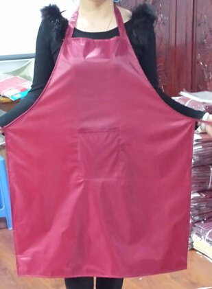 Sleeves apron made of plastic nylon at the waist