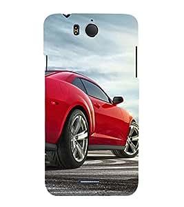Race Car 3D Hard Polycarbonate Designer Back Case Cover for InFocus M530