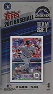2011 Topps Limited Edition Colorado Rockies Baseball Card Team Set (17 Cards) - Not Available In Packs!!