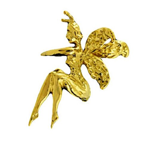 Gold Vermeil Left Only Whispering Women Fairy Ear Cuff