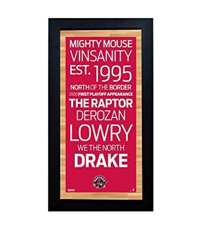 Steiner Sports Memorabilia Framed Toronto Raptors Subway Sign