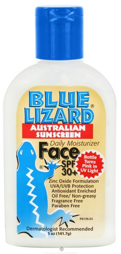 vitamin a sunscreen Discount Blue Lizard Australian Suncreen, Face SPF 30+, 5-Ounce