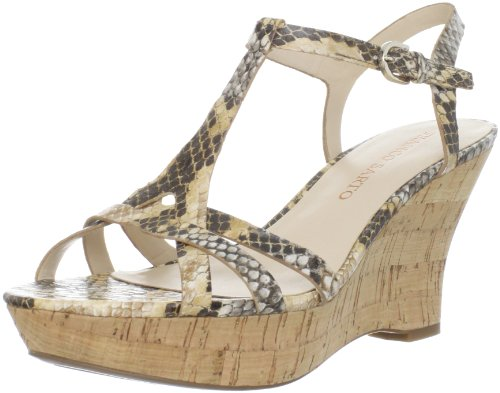 Franco Sarto Women's L-Notice Sandal,Natural Snake,6.5 M US