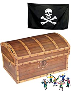 Folding Pirate's Treasure Chest Party Storage Box by BlockBusterCostumes