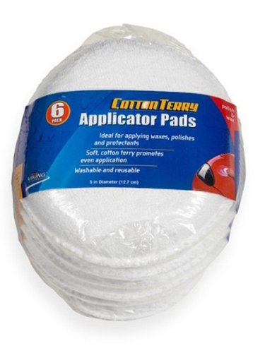 Viking Cotton Terry Wax Applicator Pads - 6 Pack