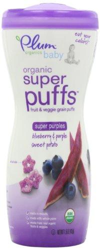 Plum Organics bébé super Puffs pourpres,