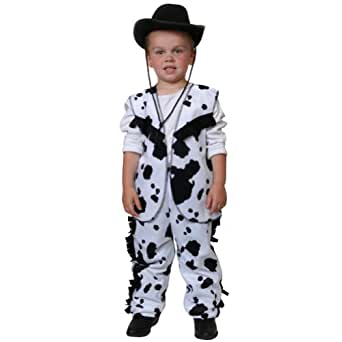 Black & White Cow Print Cowboy Costume