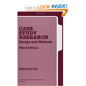 Study Research: Design and Methods, by Robert K. Yin