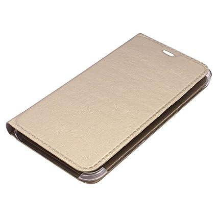 Vivo-Y31L-Leather-Flip-Case-Cover-Golden-(For-Vivo-Y31L)