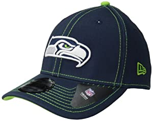 NFL Seattle Seahawks True Team Classic 39Thirty Flex Fit Cap, Medium/Large