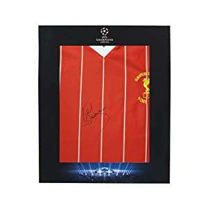 Official UEFA Champions League Kenny Dalglish Signed Liverpool Home Shirt in Deluxe Packaging by Icons Sports Memorabilia