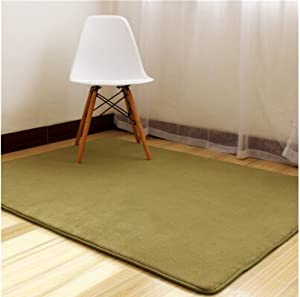 ustide army green coral fleece carpet for