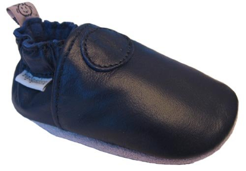 Image of Baby Leather Soft Sole Shoes, Navy Blue (infant to toddler) (B001V3O722)