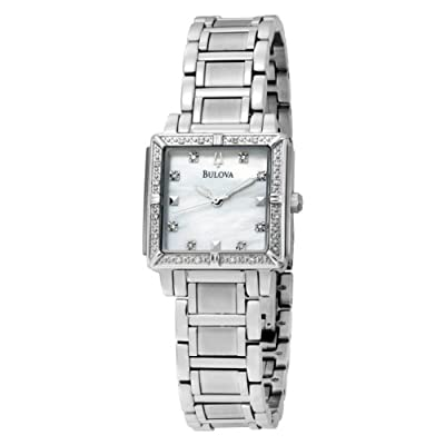 Bulova Women's 96R107 Diamond Accented Mother of Pearl Dial Watch from Bulova