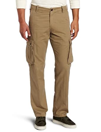 Dockers Men's Bellowed Pocket Cargo Flat Front Pant, Dark Wheat, 30x30