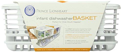 Prince Lionheart 1507 Deluxe Dishwasher Basket, Infant (White/Orange)