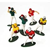 Football Players Toy Figures, Set of 12 (Six Assorted Poses)