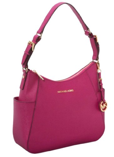 MICHAEL Michael Kors Medium Jet Set Travel Shoulder Handbag LACQUER PINK 30T2GTVL2L