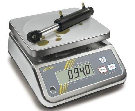 Balance de table robuste, peu encombrante, protégée par l'inox et IP65 [Kern FFN 1K-4N] Precision up to 0,2 g, Weighing range max. 0,2 g