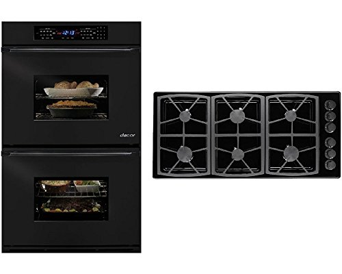 dacor-classic-2-piece-black-kitchen-package-with-eors230b-30-double-electric-wall-oven-and-sgm466b-4