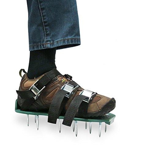 cftech Prato aeratore Sandali Scarpe resistente con 3cinghie e fibbie in metallo per arieggiare il prato o cortile