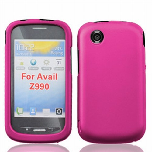 Android - Pink Designer Rubberized Hard Case Protective Snap On Cover