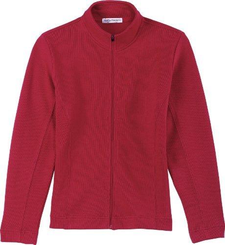 Port Authority Ladies Flatback Rib Full Zip Jacket