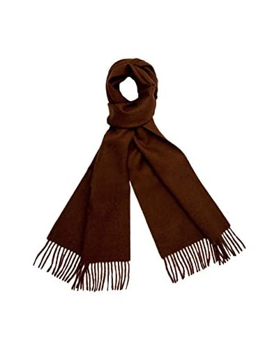 a & R Cashmere Women's Baby Alpaca Solid Scarf, Chocolate