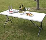 6ft Folding Banquet Trestle Party Dining Garden Table
