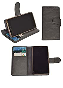 R&A Pu Leather Wallet Flip Case Cover With Card & ID Slots & Magnetic Closure For Sony Xperia E4