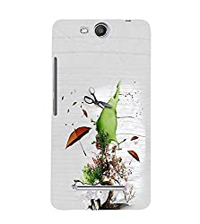 PrintVisa Cute Cartoon Save Nature 3D Hard Polycarbonate Designer Back Case Cover for Micromax Canvas Juice3 Q392